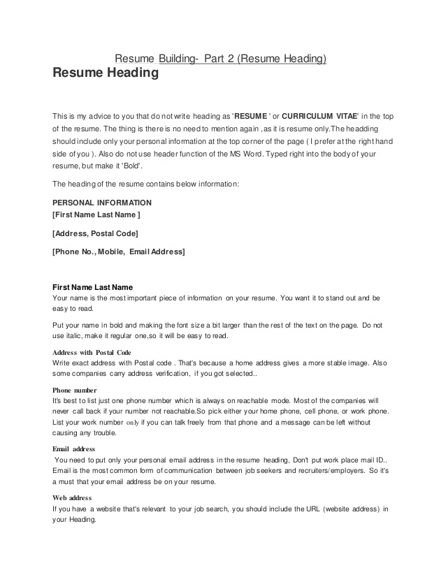 resume building part should put home address on great summary for contract manager Resume Should I Put Home Address On Resume