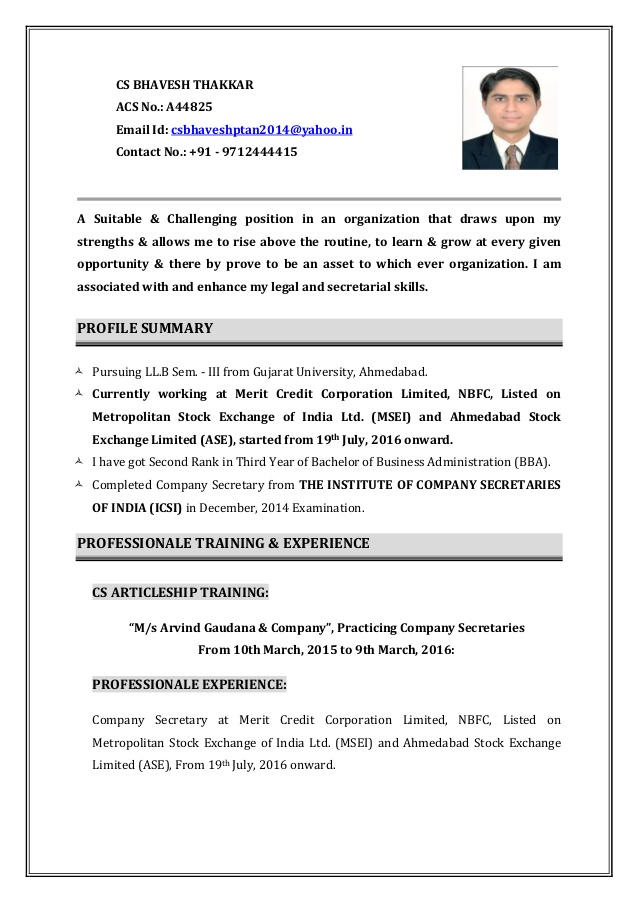 resume company secretary profile financial analyst summary collaborate with team members Resume Company Secretary Profile Resume