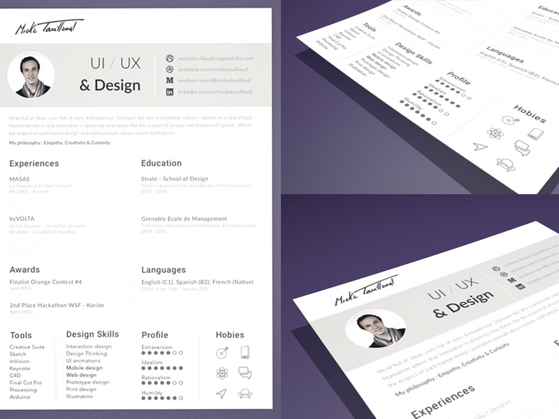 resume cv template sketch freebie free resource for sources mickatouillaud short and Resume Sketch 3 Resume Template