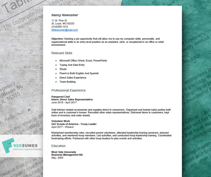 resume example for first job to craft an entry level application beginner sample Resume Beginner First Job Sample Resume