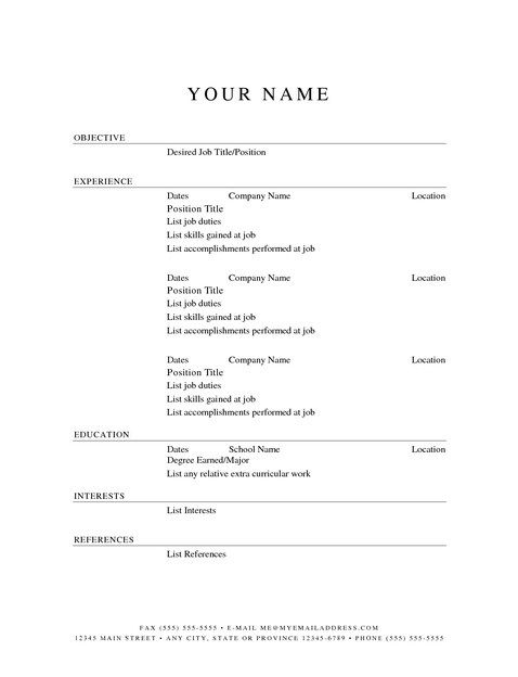 resume example in free printable templates sample builder and print management entry cpr Resume Free Printable Blank Resume