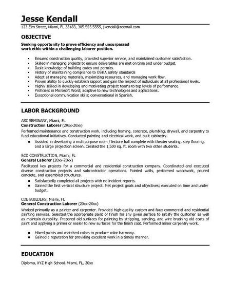 resume example in objective statement good for sample any position acting microsoft post Resume General Objective For Resume For Any Position