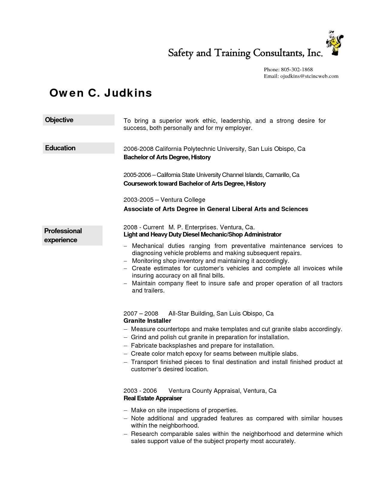resume examples diesel mechanic job good template human resources the most professional Resume Diesel Mechanic Resume Template