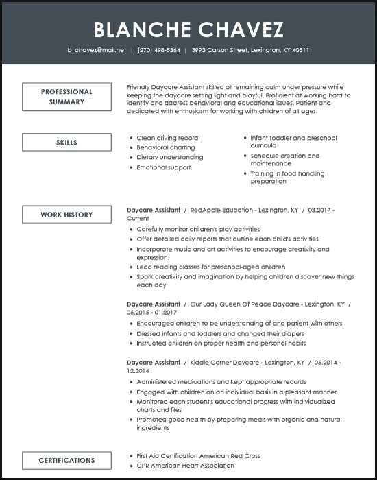 resume examples for the top gen jobs livecareer millennial format daycare assistant Resume Millennial Resume Format