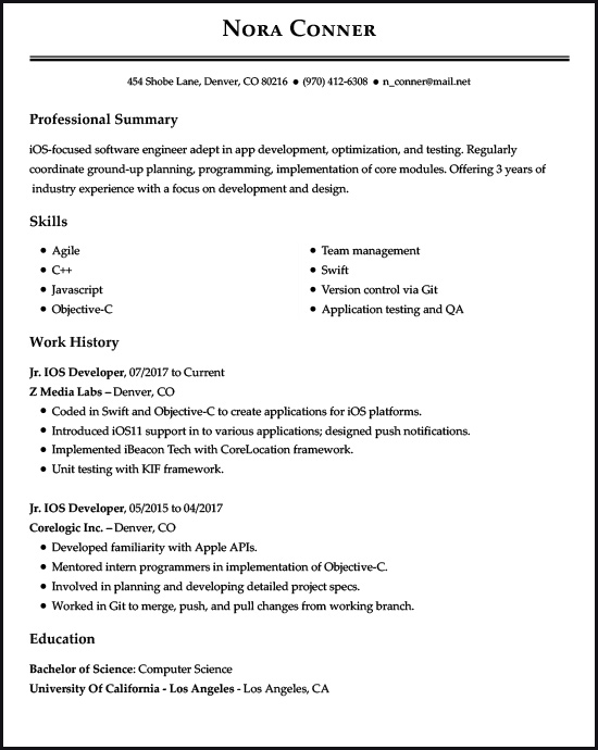 resume examples for the top gen jobs livecareer millennial format ios developer example Resume Millennial Resume Format