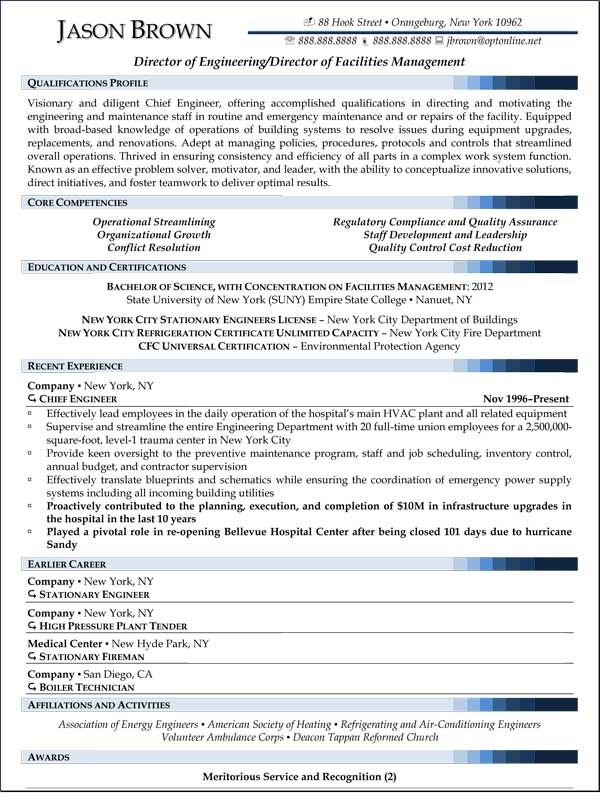 resume examples for various jobs professional writers job samples project manager Resume Director Of Facilities Resume