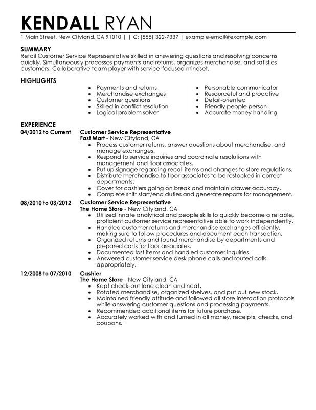 resume examples in retail summary no experience registered nurse sample cv for college Resume Good Resume Summary For Customer Service