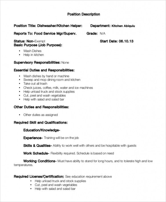 resume examples kitchen templates job responsibilities ideas for administrative assistant Resume Kitchen Hand Responsibilities Resume