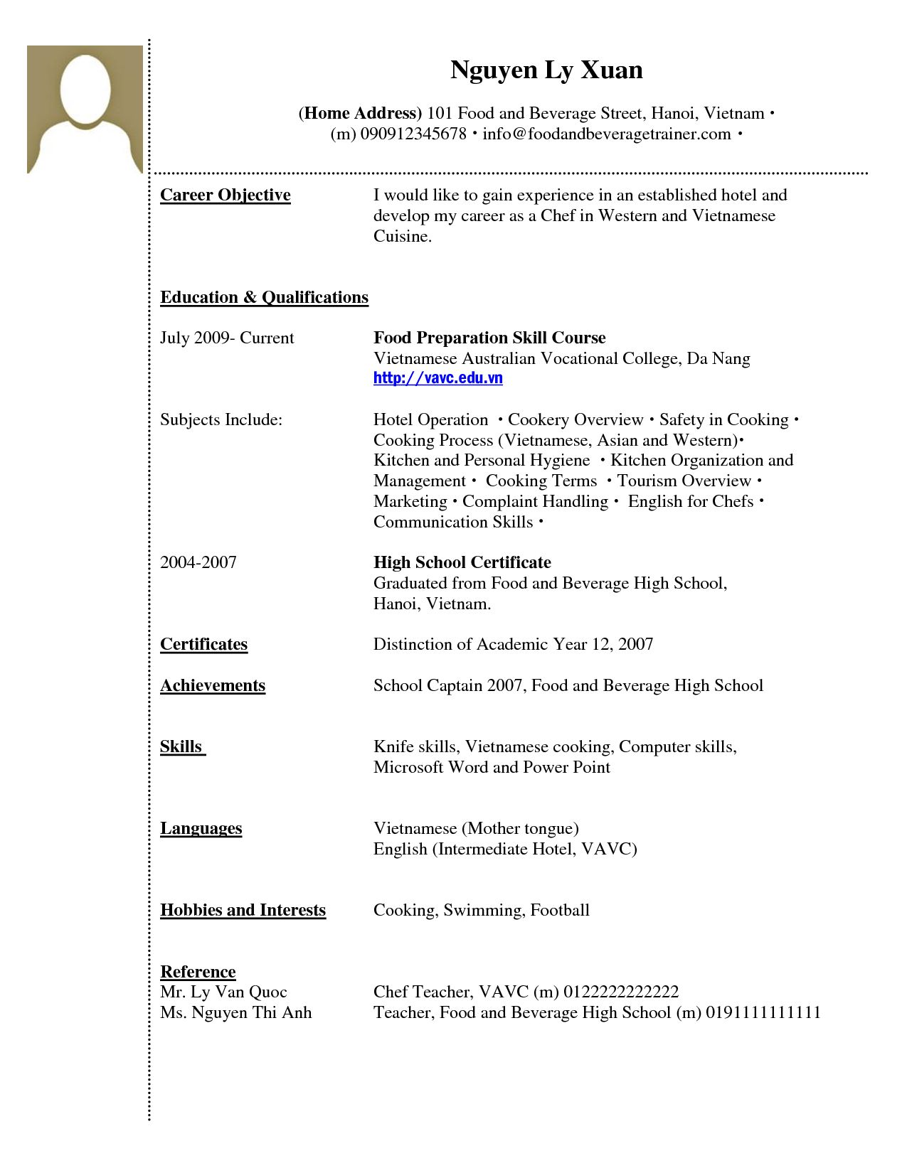 resume examples website is for resources and information job no experience student Resume Writing A Resume With No Experience