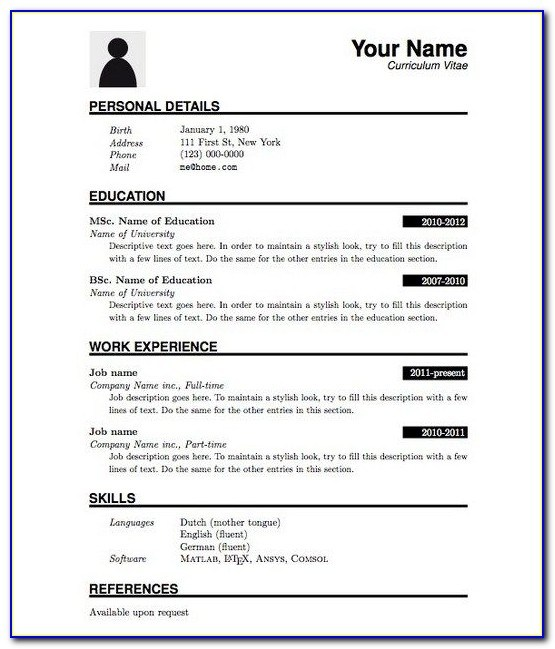 resume format for cts company freshers engineers computer science dishwasher experience Resume Resume Format For Cts Company