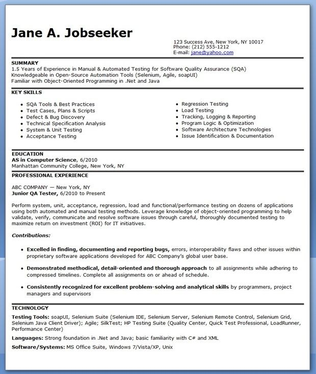 resume format for months experienced software engineer job examples tester sample Resume Software Tester Resume Sample