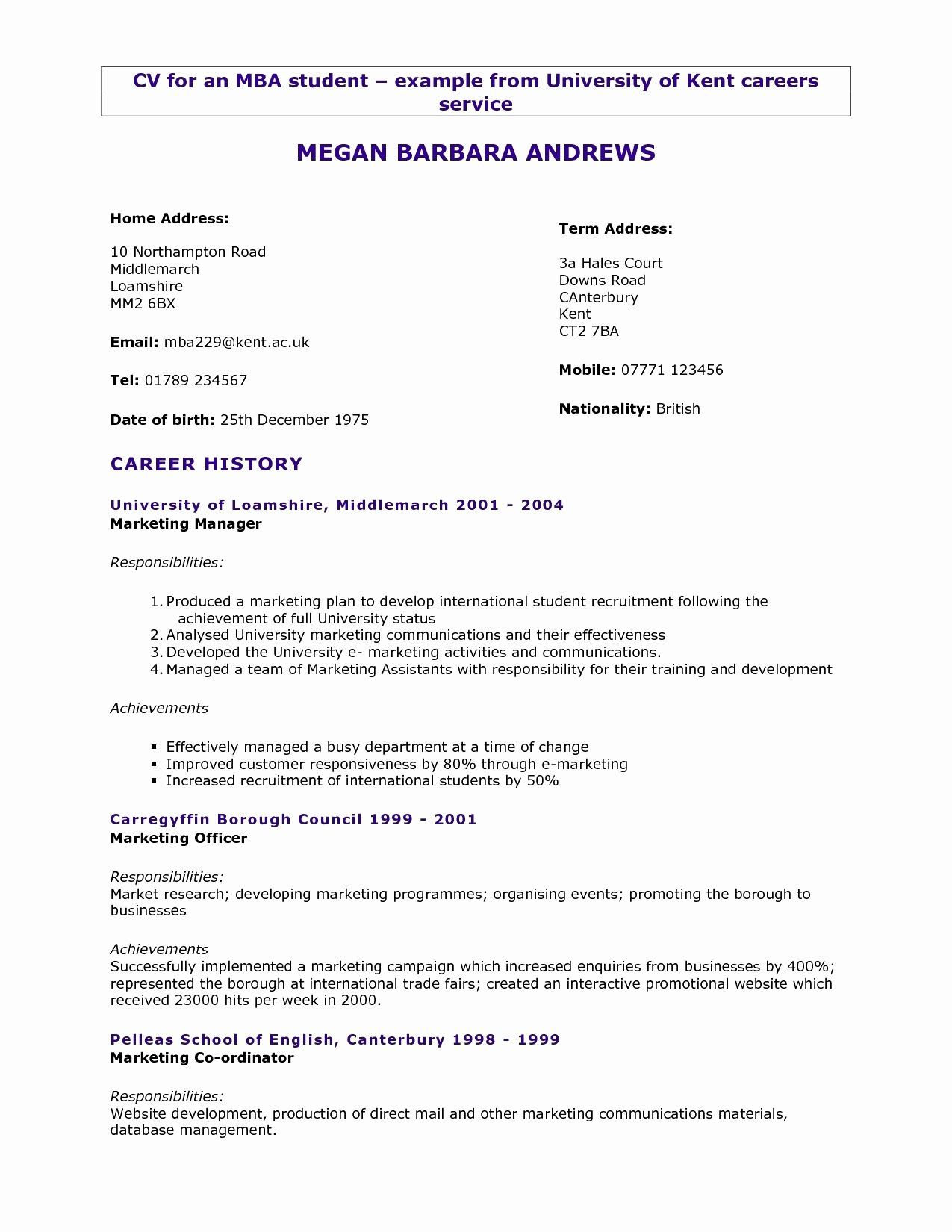resume format years experience marketing student template job examples sample for asha Resume Sample Resume For 3 Years Experience