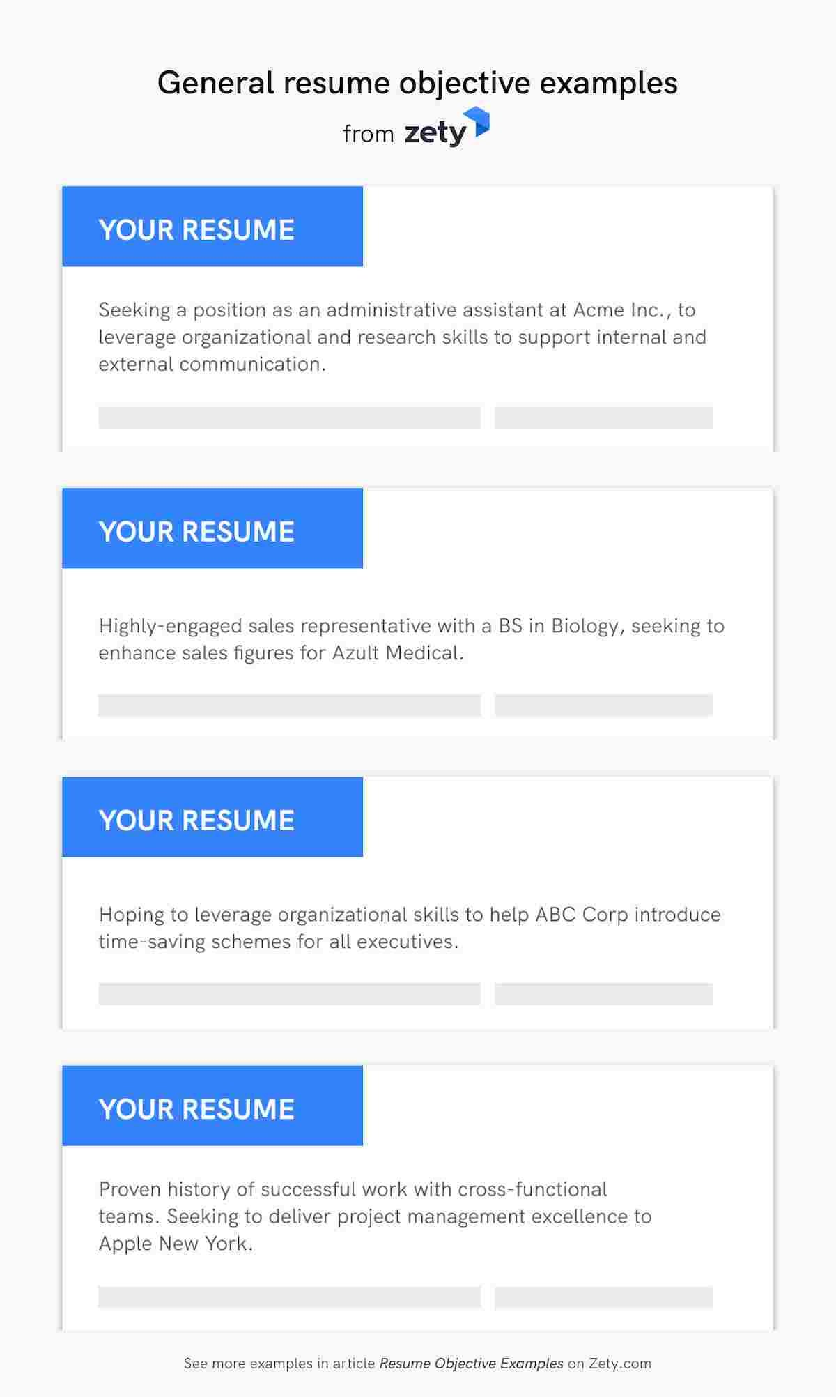 resume objective examples career objectives for all jobs section of general personal Resume Objective Section Of Resume