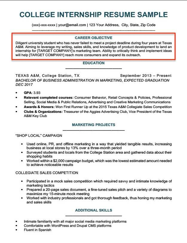 resume objective examples for students and professionals rc wonderful fo student good Resume Good Resume Objective Examples