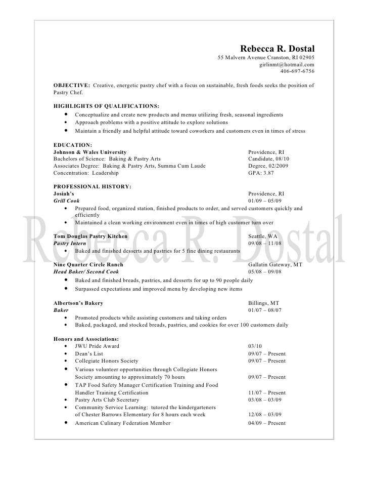 resume objective for bakery job customer service things you can put on your patient Resume Resume Objective For Bakery Job