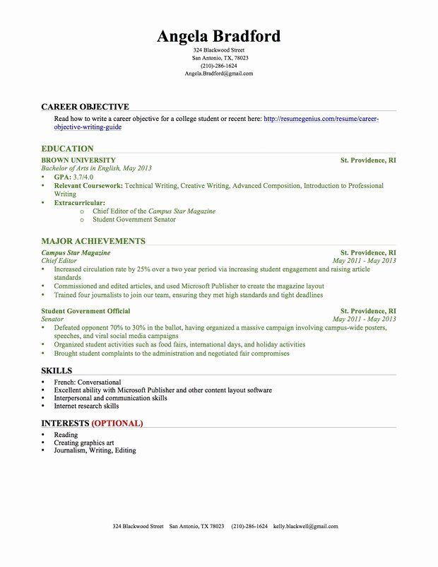 resume objective retail no experience printable template student with work college latex Resume Resume With No Work Experience College Student Template