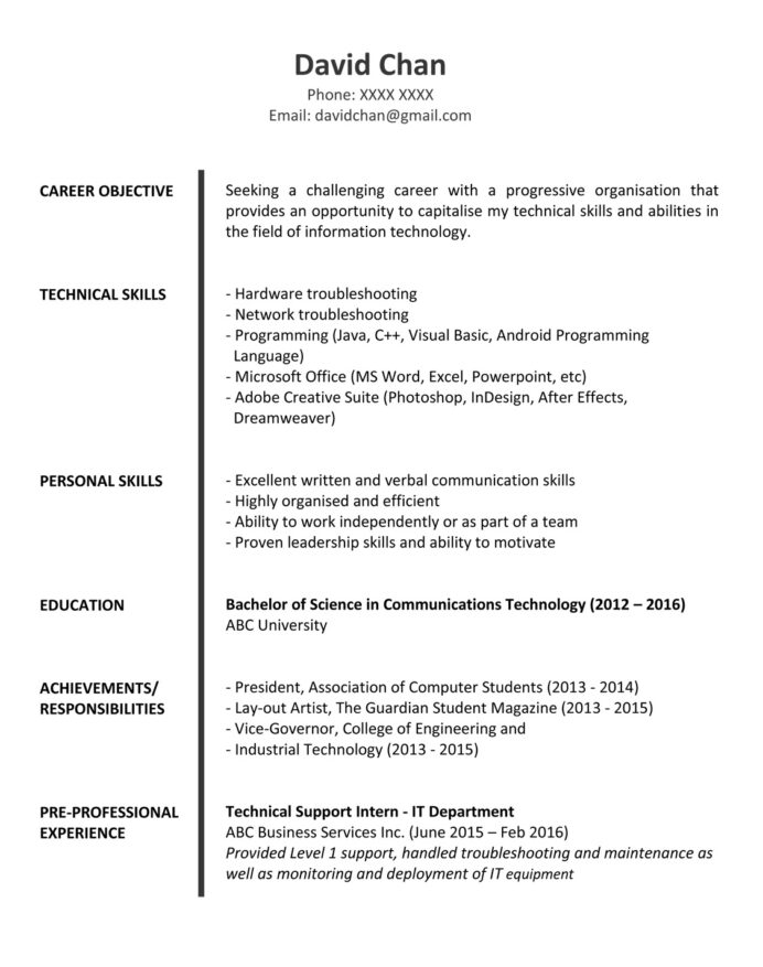 resume objective sample for fresh graduate computer science fg 1p outreach booklet nurses Resume Sample Resume For Computer Science Fresh Graduate
