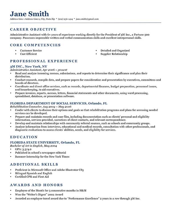 resume objective samples ipasphoto good examples template neoclassic dark blue Resume Good Resume Objective Examples