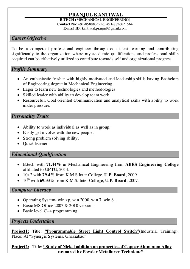 resume pranul kantiwal personality traits for cover sheet credit representative write Resume Good Character Traits For A Resume