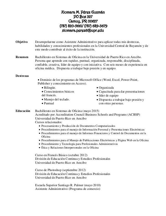 resume profesional objetivo para linux stopped job fire chief free functional template Resume Objetivo Para Resume Profesional