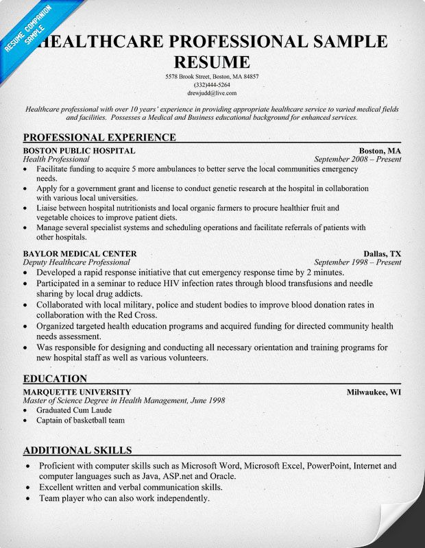 resume samples and to write companion examples sample professional for healthcare senior Resume Sample Resume For Healthcare Professional