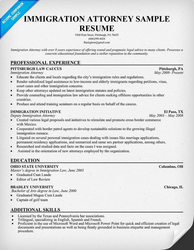 resume samples and to write companion manager job hotel general immigration attorney Resume Resume Immigration Status