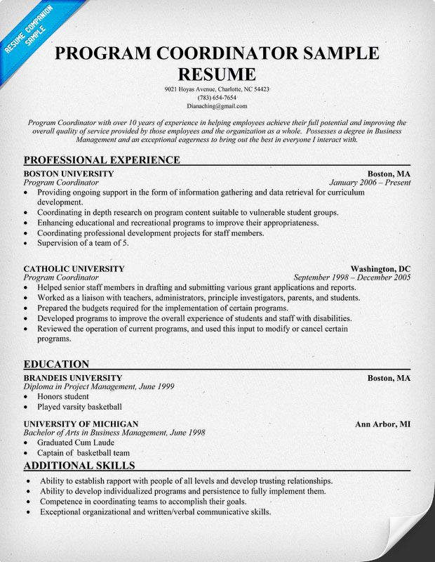 resume samples and to write companion skills cover letter sample youth program director Resume Youth Program Director Resume