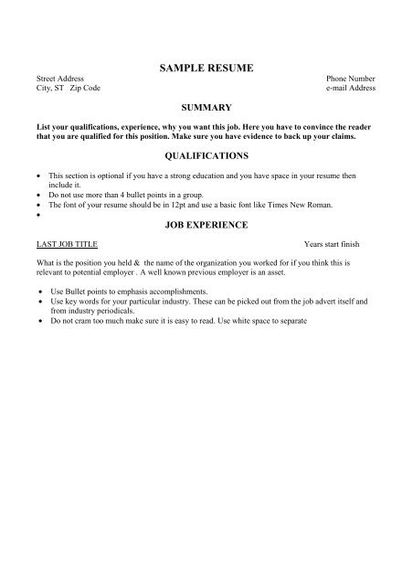 resume summary examples entry level job bullet points checkpoint firewall special Resume Resume Job Bullet Points