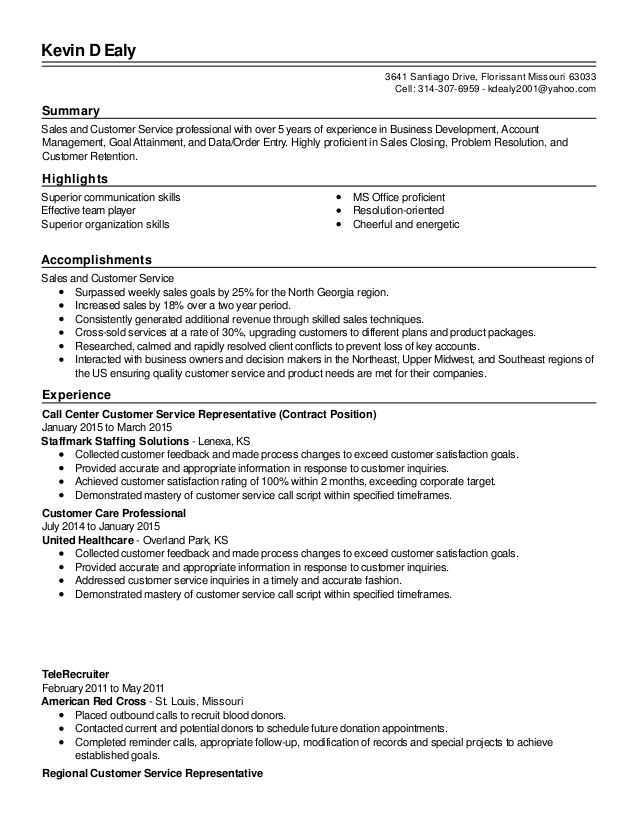 resume summary examples for customer service representative good revised and free event Resume Good Resume Summary For Customer Service