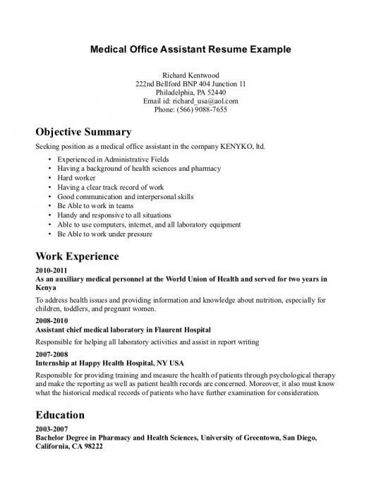 resume summary examples for medical assistant objective student applying job post college Resume Resume Objective For Healthcare Job
