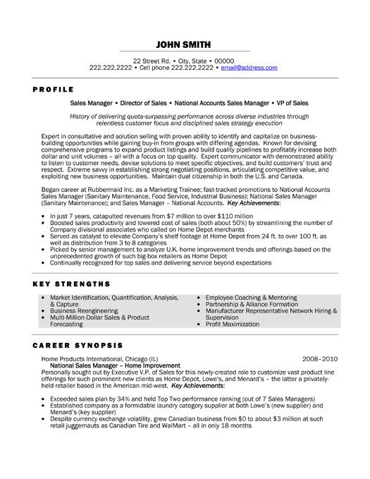 resume template for national manager you can it and make your own marketing examples Resume Sales Manager Resume Template