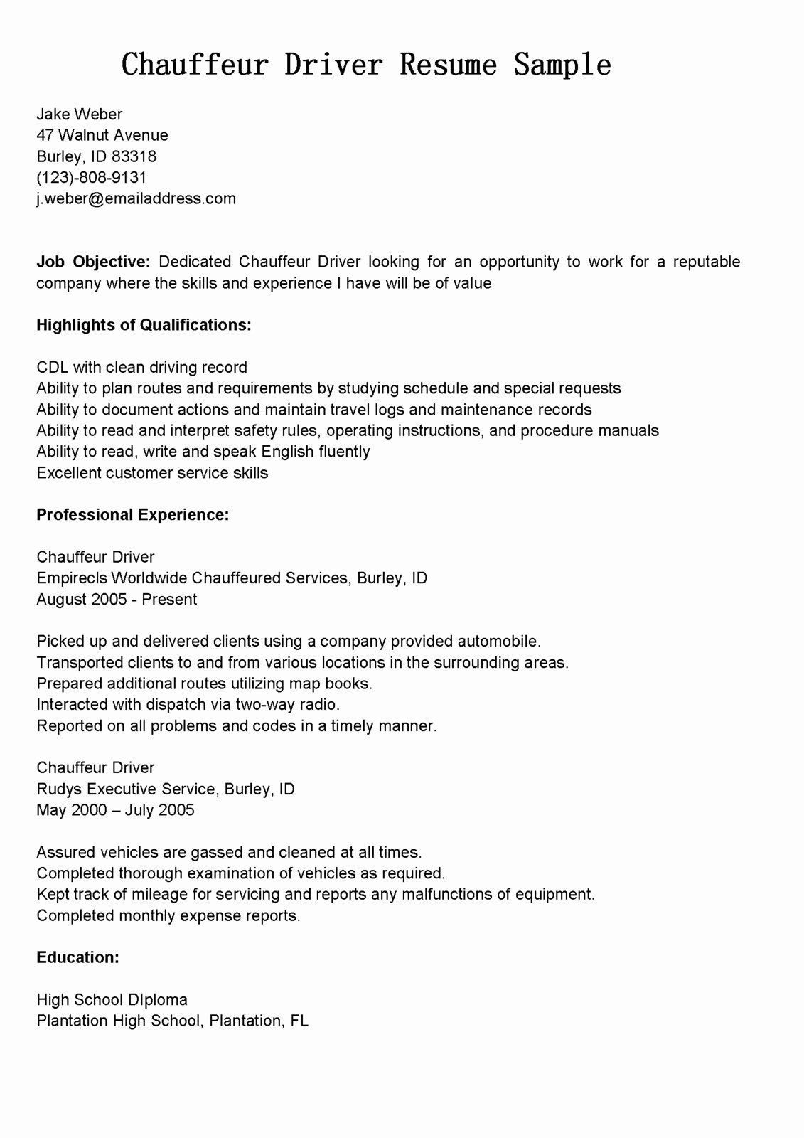 resume template format friendly cable technician property manager sample an example of Resume Resume For Uber Driver