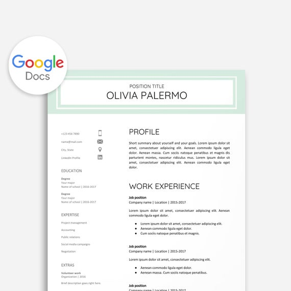 resume template google docs cover letter etsy and il 570xn nzvx food industry basic good Resume Cover Letter And Resume Template Google Docs
