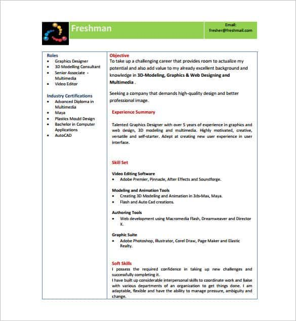 resume templates for freshers pdf free premium template format headline tips collection Resume Free Resume Templates For Freshers