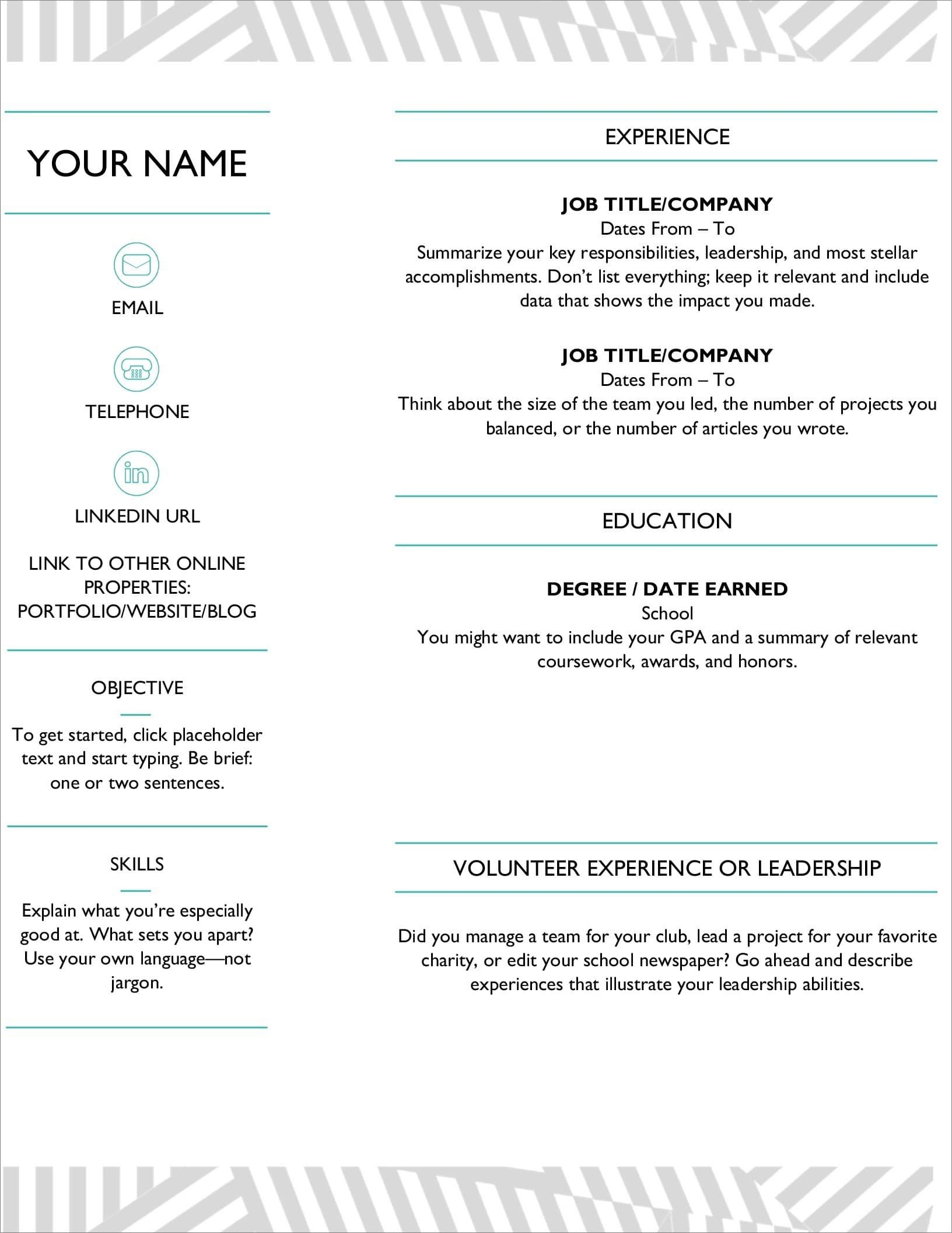 resume templates for microsoft word free ms word23 masters thesis operations manager Resume Free Microsoft Word Resume Templates 2020