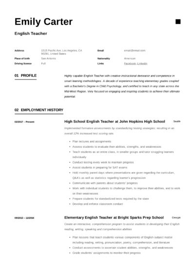 resume templates pdf word free downloads and guides professional modern template 400x566 Resume Young Professional Resume