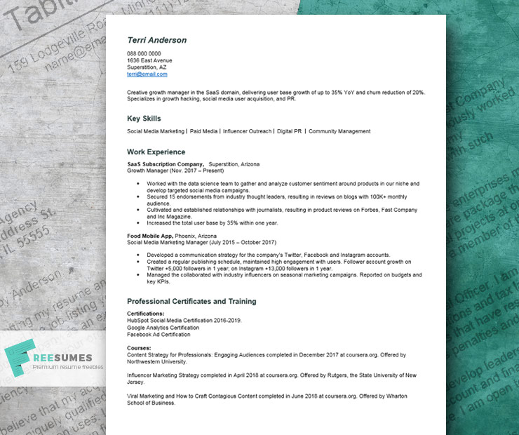 resume with no college degree example writing tips freesumes template education for Resume Resume Template No College Education