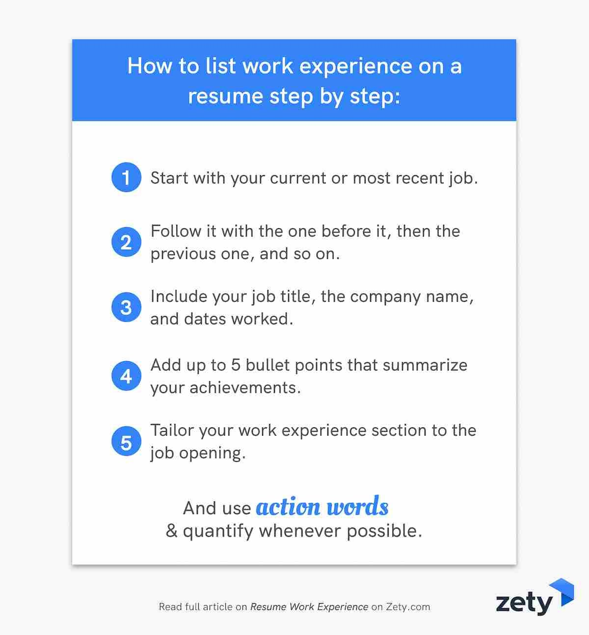 resume work experience history job description examples bullet points to on step by Resume Resume Job Bullet Points