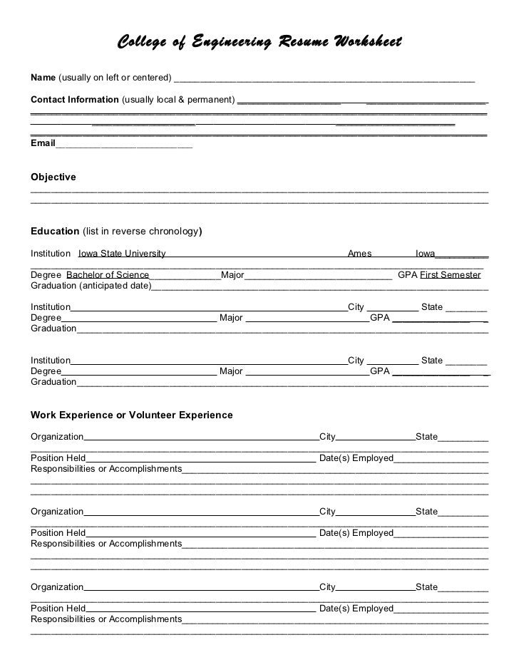 resume worksheet worksheets for students science crossword puzzles free games by math Resume Resume Worksheets For Students