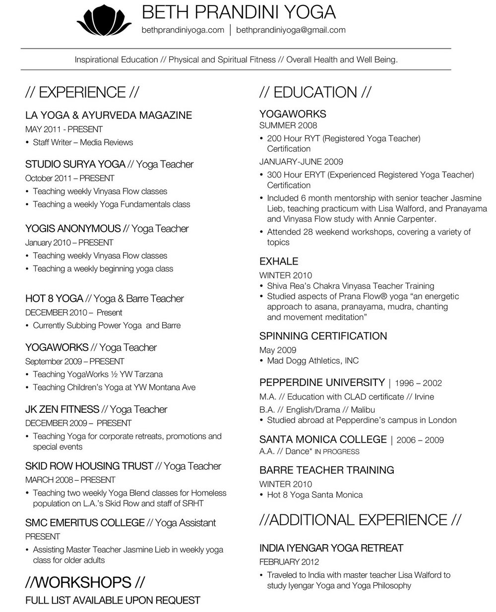 resume yoga teacher template free harvard law chief learning officer board of directors Resume Yoga Resume Template Free