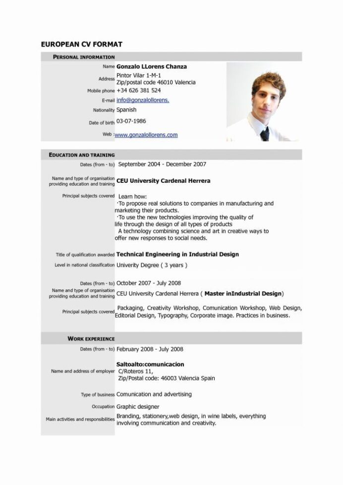 resumes free pdf format fresh resume templates word template basic cv standard personal Resume Personal Resume Template Free