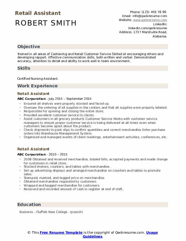 retail assistant resume samples qwikresume jobs pdf correctional officer oracle for years Resume Retail Jobs Resume Samples