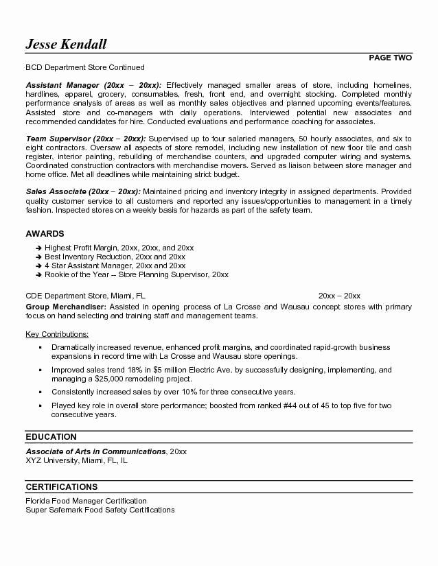 retail manager resume objective elegant assistant images sle job samples examples Resume Retail Department Manager Resume Examples