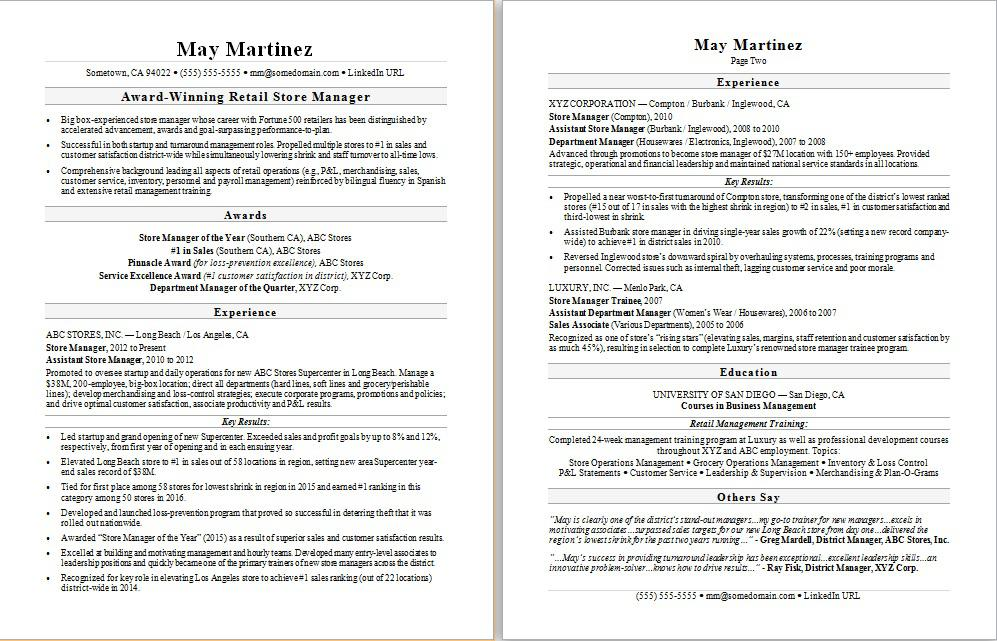 retail manager resume sample monster department examples supply chain operations server Resume Retail Department Manager Resume Examples