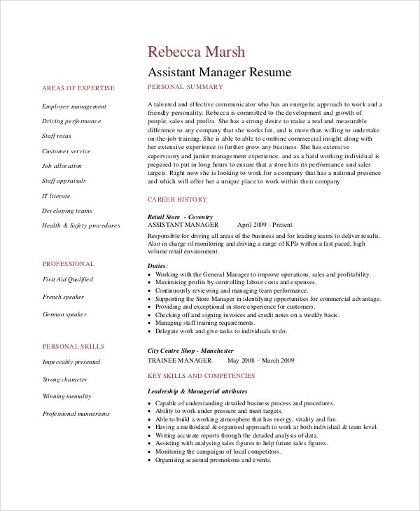 retail manager resumes free sample example format premium templates management experience Resume Retail Management Experience Resume