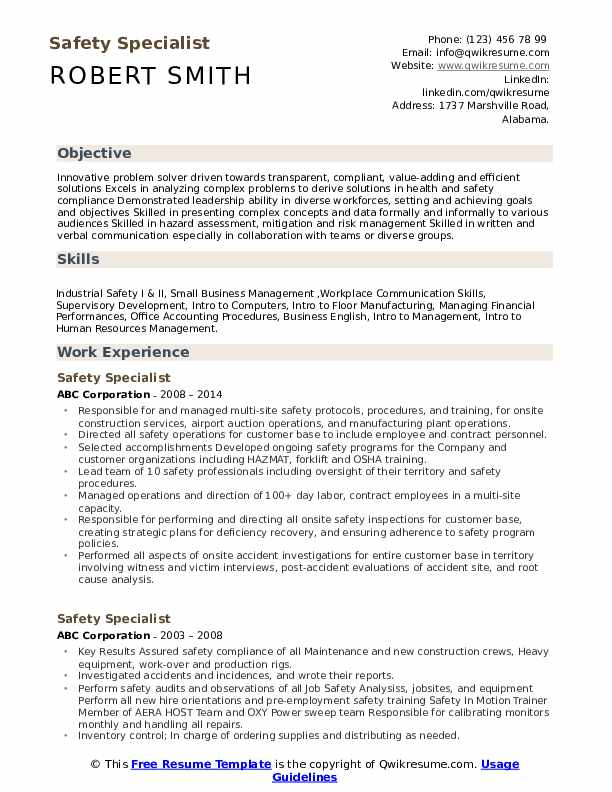 safety specialist resume samples qwikresume food sample pdf easy job examples background Resume Food Safety Resume Sample