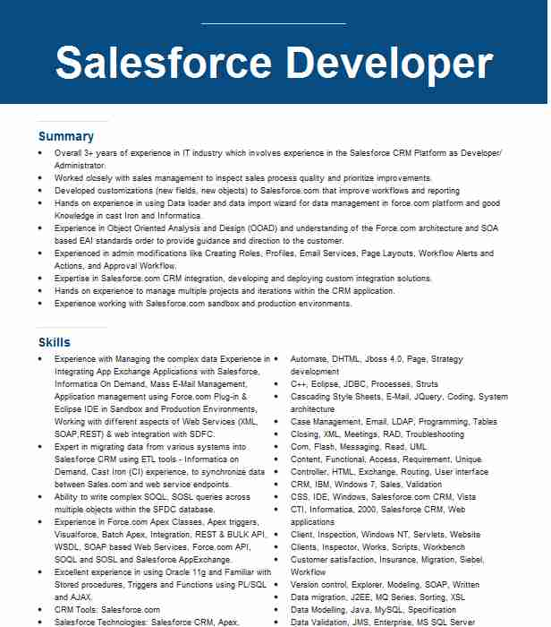 salesforce administrator and developer resume example mcgraw commerce candidate on Resume Salesforce Commerce Cloud Developer Resume