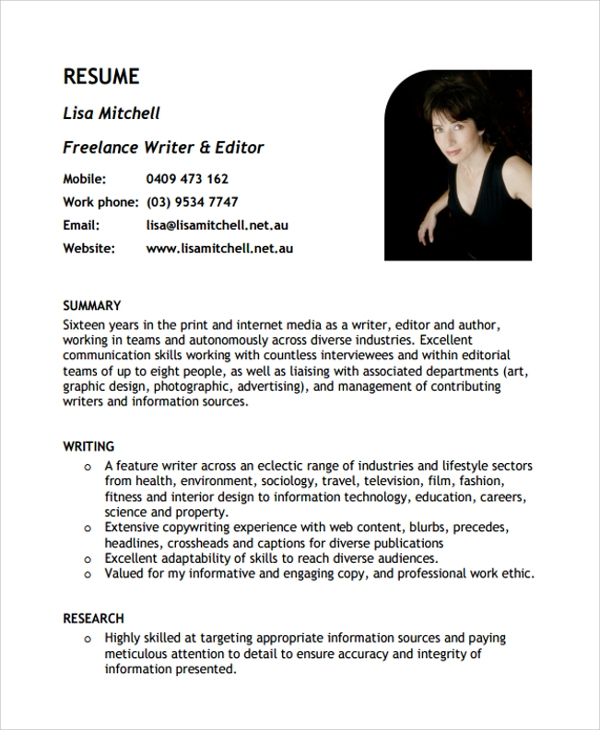 sample freelance resume templates in pdf ms word for writer resume1 acting beginners Resume Resume For A Freelance Writer