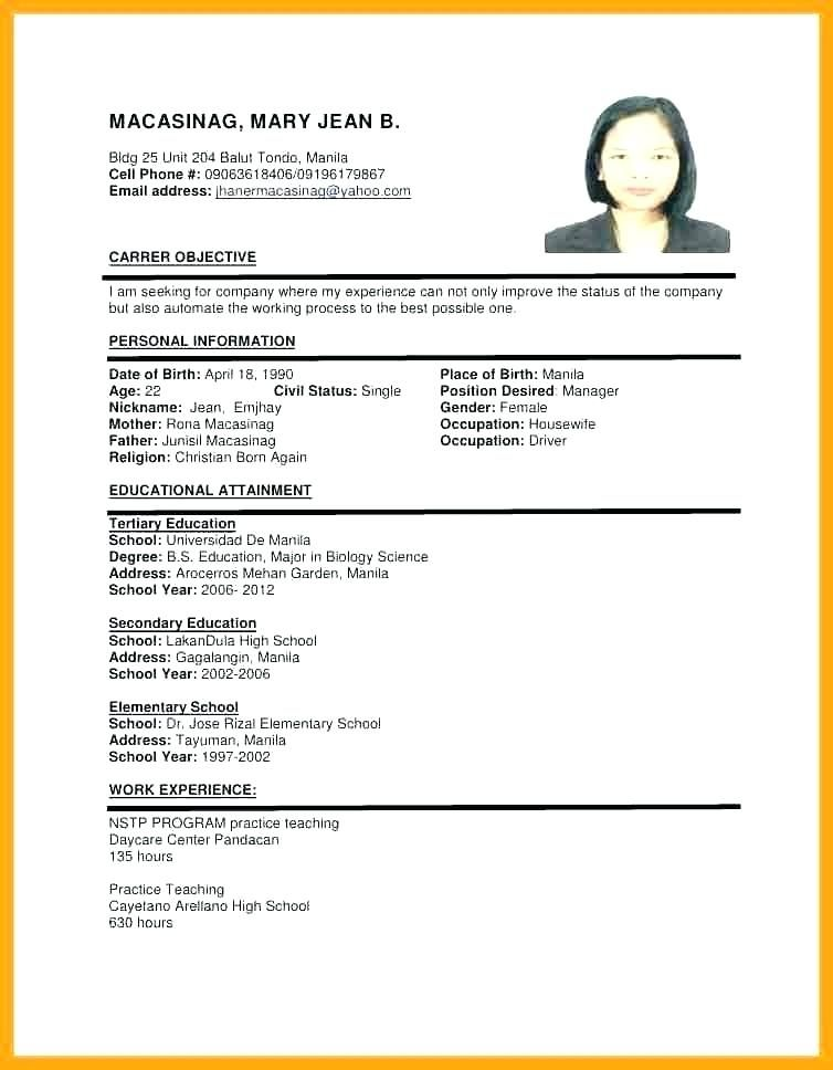 sample of resume format for job application templates examples best example text pcb Resume Best Example Of Resume For Job Application