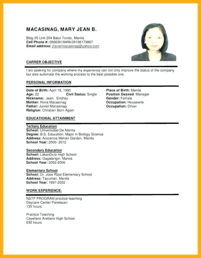 sample of resume format for job application templates examples template law school tips Resume Job Application Resume Sample